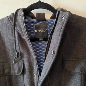 Matix Hooded Sweatshirt / Shirt Jacket